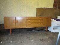 Sideboard - 1970's retro style low sideboard.