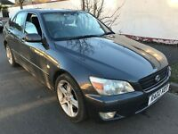 Lexus IS200 SE 1988cc Petrol 6 speed manual 4 door saloon 02 Plate 24/05/2002 Silver