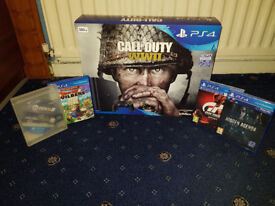 Brand New And Sealed Playstation 4 500GB with 5 Games Gran Turismo Sport PS4