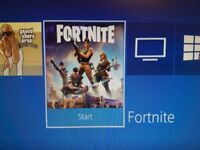 Ps4 slim with controller , fortnite game and gta san andreas