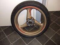 ducati st2 front wheel @ tyre