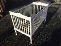White Vintage Cosatto Cot Bed Large Belfast BT8