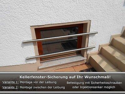 Kellerfenster Einbruchschutz,Kellerfenster Sicherung,Auf Maß gefertigt Edelstahl