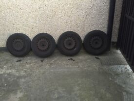 VW Golf Steel Wheels and Nuts