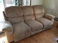 3 Seater recliner sofa FREE