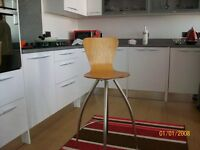 2X pine laminated breakfast bar stools.