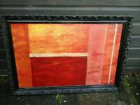Stunning abstract art not a print, framed large near 1m long detailed