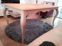 Frech chic styled, Solid Wooden dining Table.
