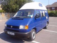 vw t4 transporter 1.9 diesel.2001. motorhome.one owner.96k miles.full service history. moted