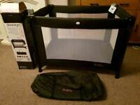 Red Kite Sleeptight Black Travel Cot. Great used condition. Smoke & Pet Free Home. Cheadle £15