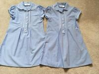 School dresses blue check from NEXT age 4 yrs in euc