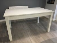 NEXT White Gloss Extendable Dining Table