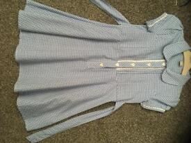 Blue summer school dress age 6