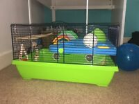 Hamster cage suitable for all hamsters including Syrian ones.
