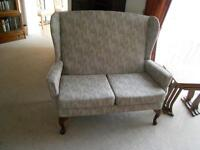 High Seat Ltd 2 Seater Settee with matching Manual Recliner Chair