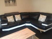 Corner sofa leather very cheap