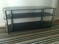 Black glass t.v stand