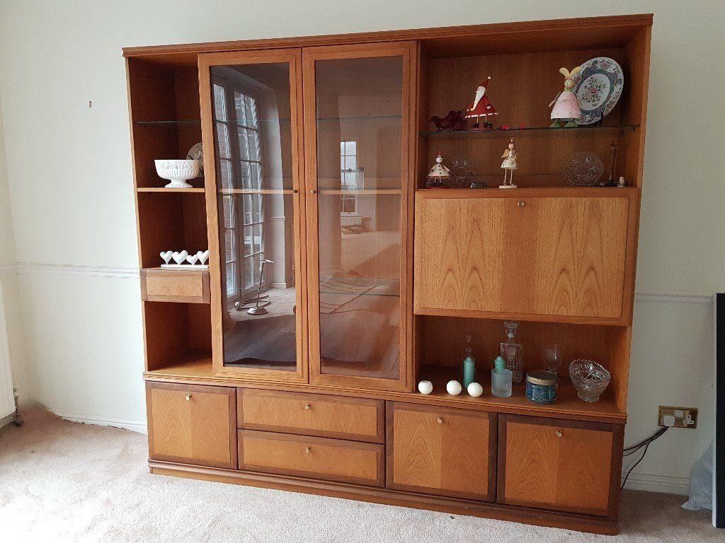 Vintage Large Meredew Furniture Mid Century Wall Unit