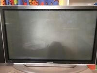42 inch television available for a donation.