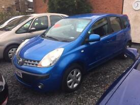 Nissan note 1.4 2007 model 1 year mot excellent condition finance available