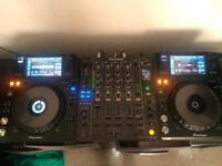 2x Pioneer xdj 1000 mk1 decks and pioneer djm 850 mixer