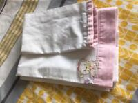 Baby girl cotton sheets for small crib