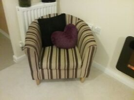 Two tub armchairs for sale