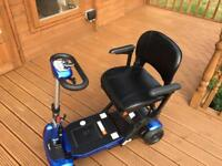 Solax genie plus electric folding mobility scooter as new