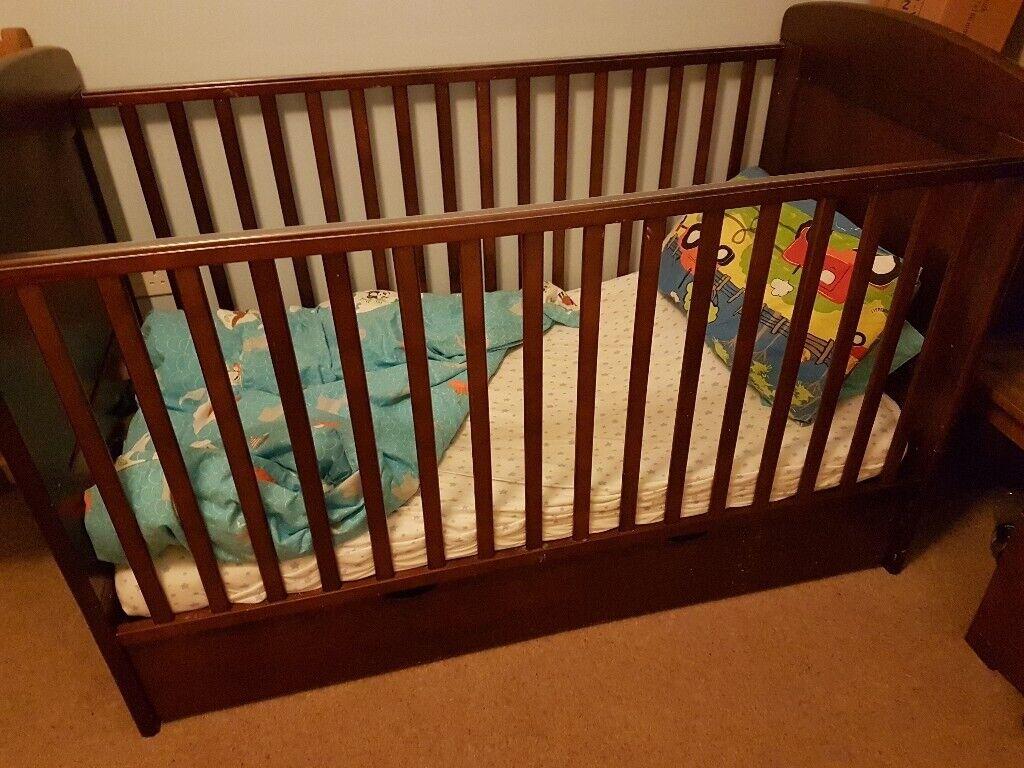 Nursery Furniture Bundle Dark Wood 170 Ono