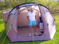 4 Berth Outwell Tent all equipment to go camping all used twice A BARGAIN