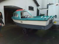 14ft Jiffy fibre glass Boat for sale with Rr Furb trailer and 2 engines and Many extras