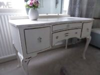 Lovely Shabby Chic Dressing Table with Bevelled Mirror