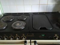 Cream leisure 1200 range style all electric cooker