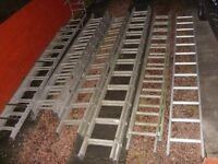 6 x Aluminium Roofing / Roof Ladders Job Lot - 4 x Double, 1 x Triple, 1 x Single - £275 For The Lot