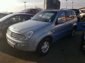 2005 55 plate ssangyong Rexton 2.7 diesel auto 4x4 59.000 miles £3995 part exchange welcome