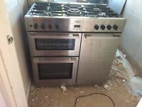 Bellingstainless steel dual fuel 90cm cooker £40 ono