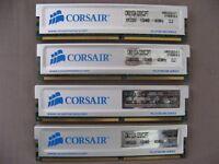 4 GB Corsair CMX1024 - 3200C2PT 1024MB PC3200 DDR - 400MHz CL2 desktop memory