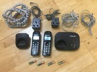 Panasonic home landline twin two cordless phone