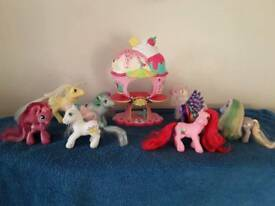 My little pony ice cream fairground including accessories & ponies
