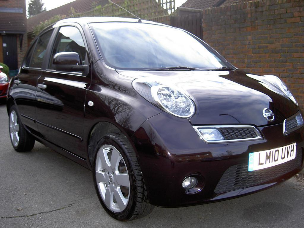 nissan micra n tec auto 1 2 eds puredrive 2010 5 door hatchback in aubergine black acenta. Black Bedroom Furniture Sets. Home Design Ideas