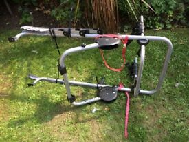 3 cycle rear high mount clip on cycle carrier
