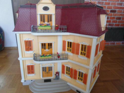 Playmobil haus villa 5302 mit einrichtung sehr guter for Playmobil haus schlafzimmer