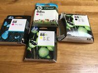 7 x Inkjet Printer Ink Cartridges suitable for Hp 88 series printers