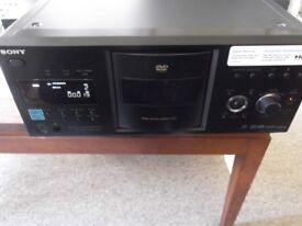 Sony DVP-CX995V 400 disc CD/SACD/DVD multiplayer with HDMI, remote control, plays MP3 discs