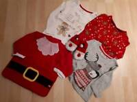 Girl's age 12-18mth small Christmas bundle of clothes