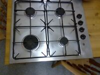 stainless steel gas hob in good condition