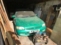 Private plate, Ford, Calypso, ESCORT, Convertible, 1997, Manual, 1597 cc, offers over 1500,barn find