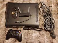 Xbox 360 120gb with wifi adaptor