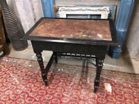 Antique Desk Victorian Arts & Crafts Ebonised Aesthetic Movement & Chair