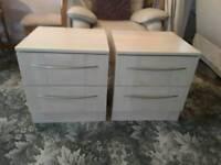2 x bedside drawer units.